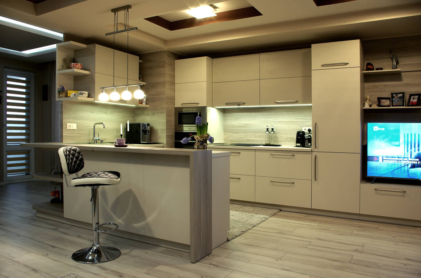 модерен градски интериор на кухня