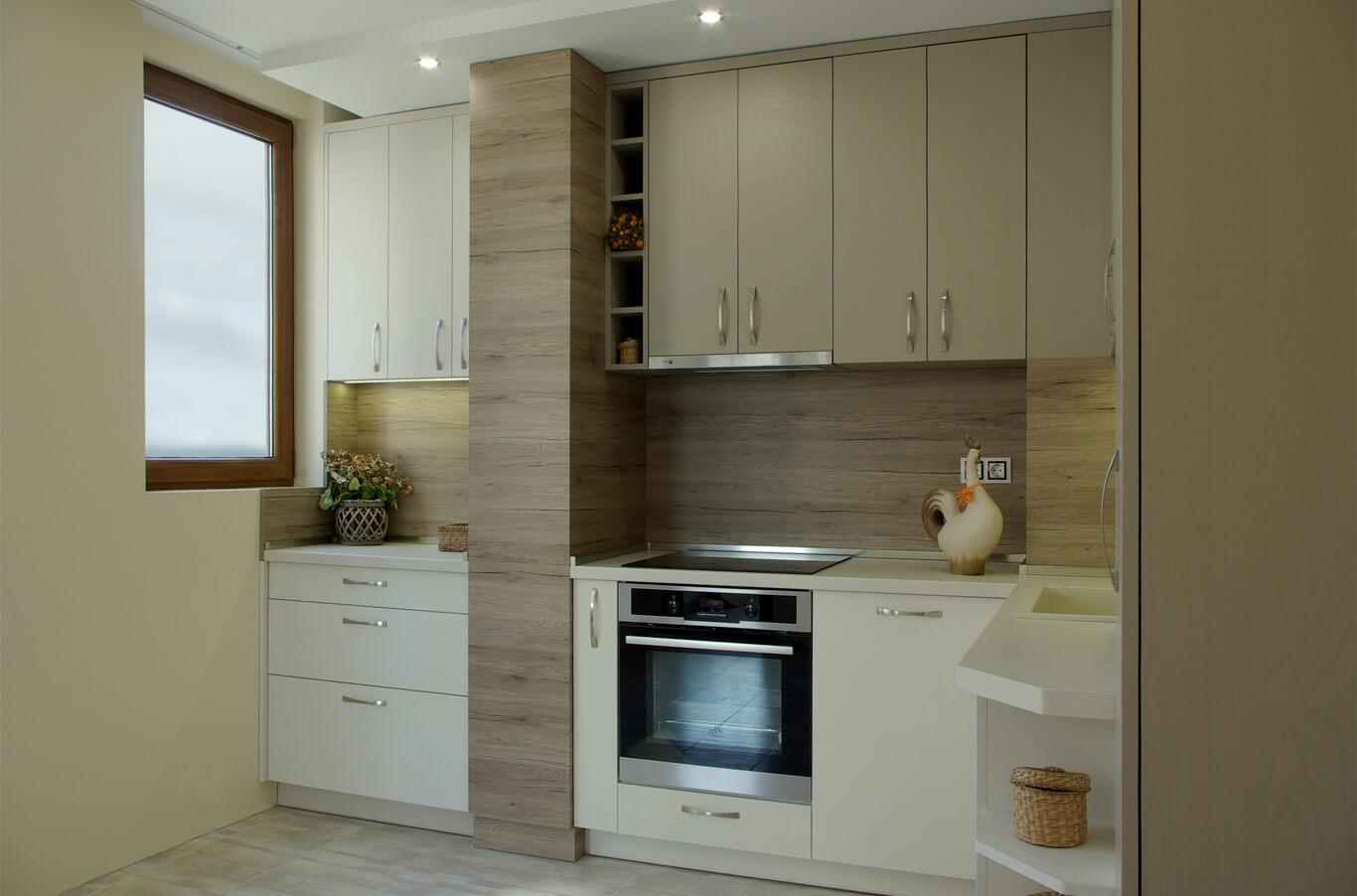 стилна ъглова кухня