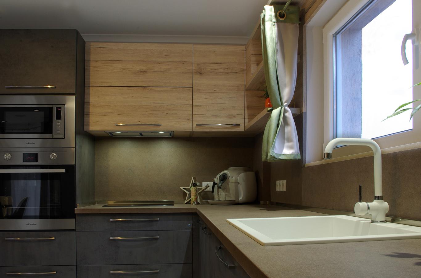 модерна кухня с вградени уреди